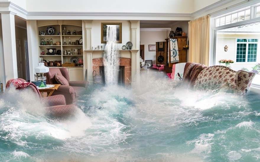 Flooding causing water damage